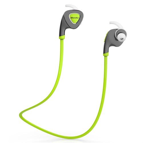 Bluedio Q5 Kablosuz Bluetooth Sporcu Kulaklık - Yeşil Earbud - SDTQ5GRN
