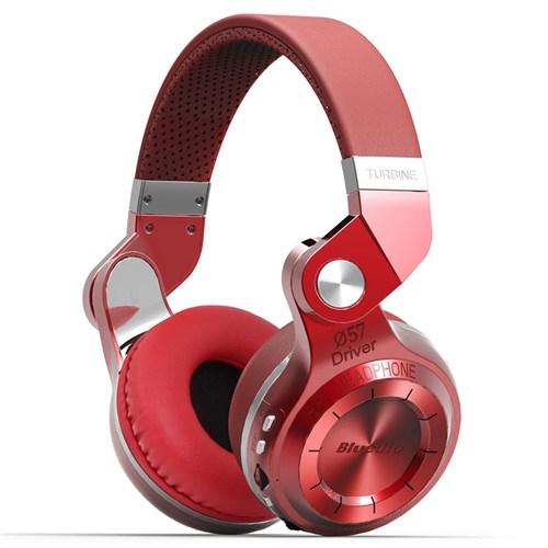 Bluedio T2 Kablosuz Bluetooth Kulaklık - Kırmızı Headphone - SDTT2RED