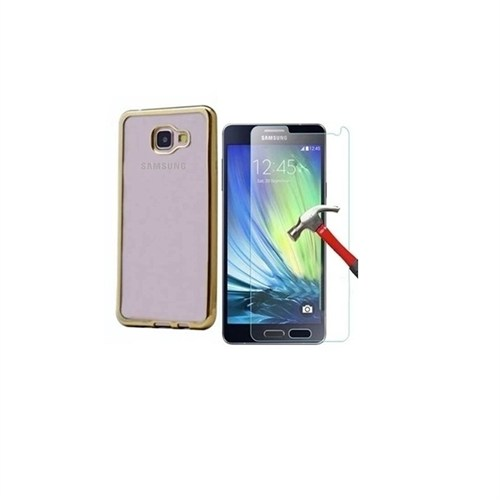 Kılıfshop Samsung Galaxy A3 2016 Lazer Silikon Kılıf + Kırılmaz Cam Ekran Koruyucu