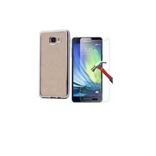 Kılıfshop Samsung Galaxy A7 2016 Lazer Silikon Kılıf + Kırılmaz Cam Ekran Koruyucu