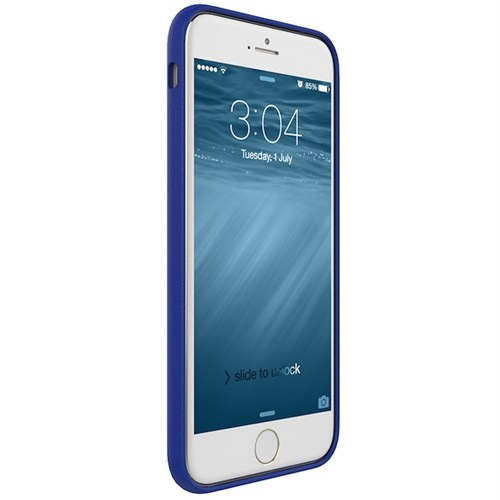 Gosh Apple İphone 6/6S Analina Deri Kılıf Mavi