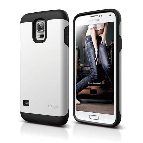 Elago Samsung Galaxy S5 Duro Kılıf Beyaz