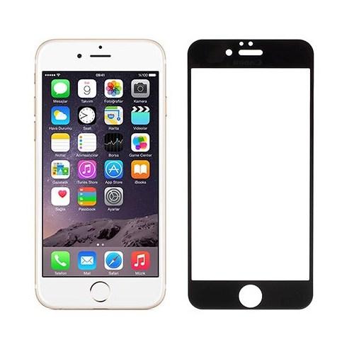 Addison Ip-853 Tempered Glass 0.3Mm Siyah İphone 6S Full Cover Cam Ekran Koruyucu