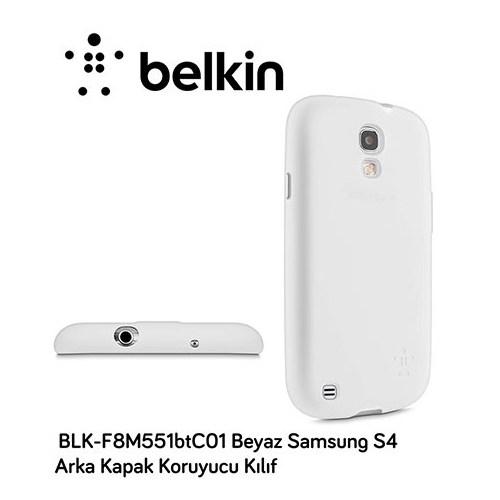 Belkin Blk-F8m551btc01 Beyaz Samsung S4 Arka Kapak Koruyucu Kılıf