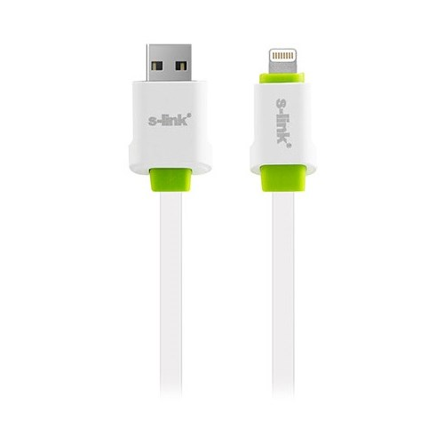 S-Link Slp-136 İphone 5/5S/6/6 Plus 2100Ma 2M Hızlı Şarj Data + Şarj Kablosu