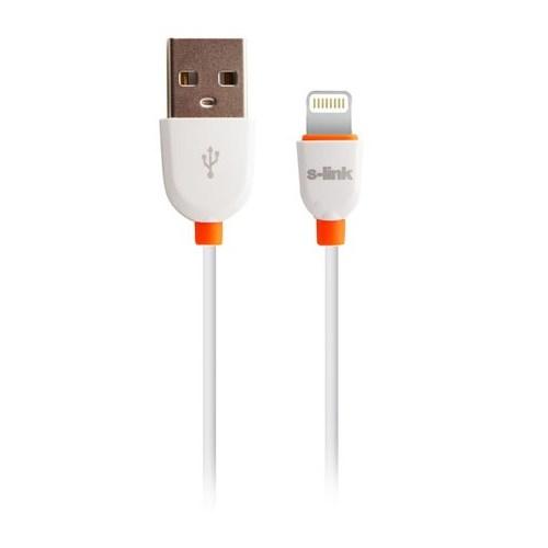 S-Link Slp-502 İphone 5/6 + İpad 4/5/Mini Beyaz Data + Şarj Kablosu