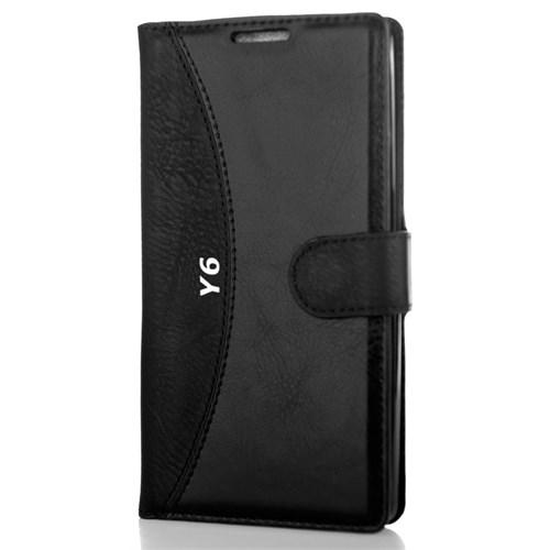CoverZone Huawei Y6 Kılıf Cüzdan Kapaklı