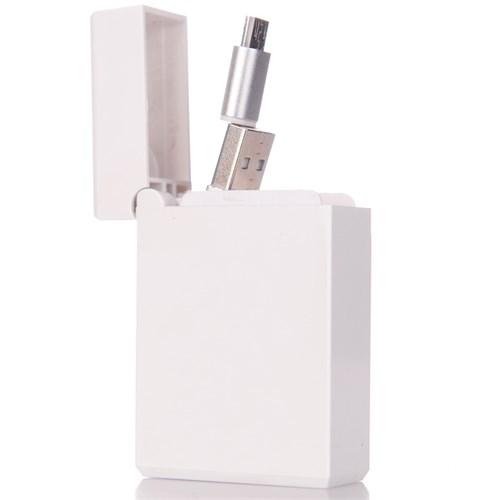CoverZone Micro Usb Samsung Data Ve Şarj Kablosu Makaralı Kutusunda