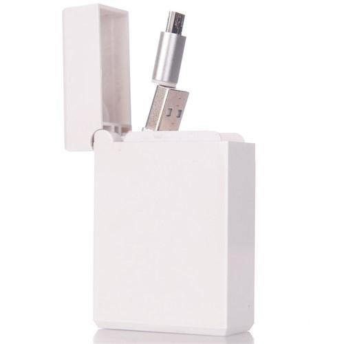 CoverZone Micro Usb Htc Data Ve Şarj Kablosu Makaralı Kutusunda