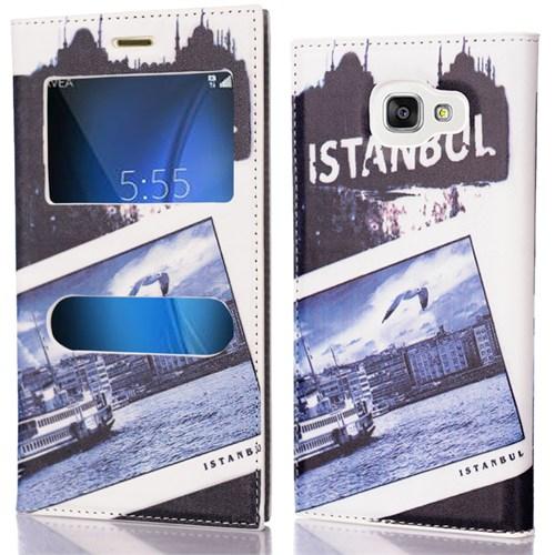 CoverZone Samsung Galaxy A5 2016 Kılıf Pencereli Kapaklı Resimli İstanbul