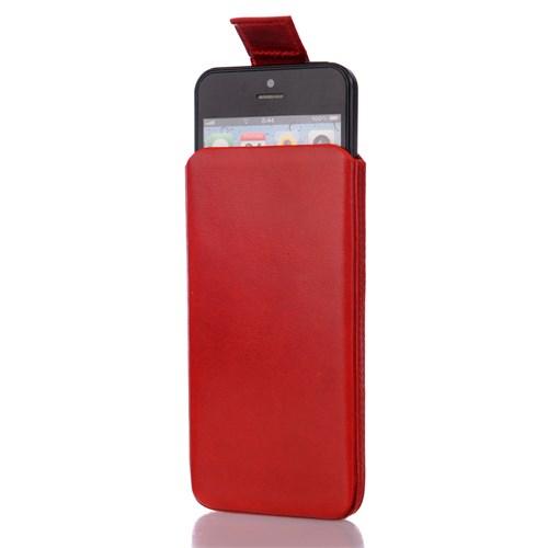 CoverZone İphone 5- 5S Kılıf Gerçek Deri Çekmeli Model