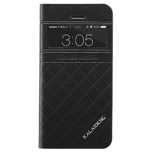 CoverZone İphone 5C Kılıf The Dress Kapaklı Pencereli Siyah