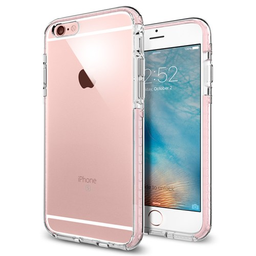 Spigen iPhone 6s/6 Kılıf Ultra Hybrid TECH Crystal Rose - SGP11788
