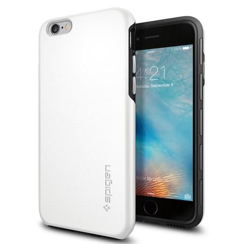 Spigen Apple iPhone 6S/6 Kılıf Thin Fit Hybrid White - 11731