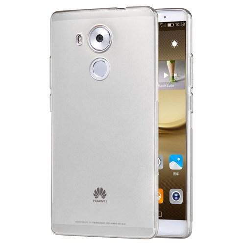 Microsonic Huawei Mate 8 Kılıf Transparent Soft Beyaz