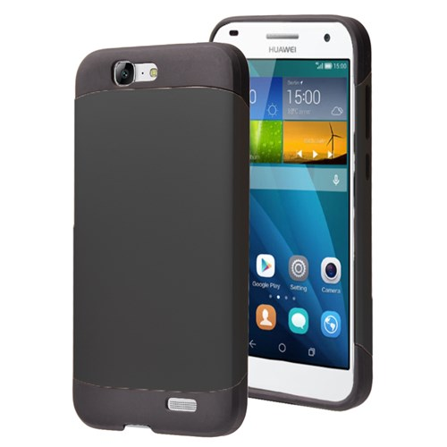Microsonic Huawei Ascend G7 Kılıf Slim Fit Dual Layer Armor Siyah