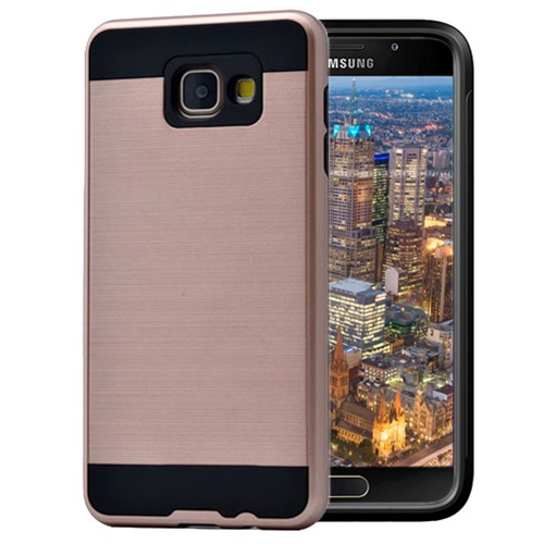 Microsonic Samsung Galaxy A7 2016 Kılıf Slim Heavy Duty Gold