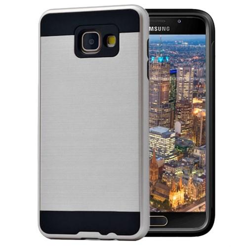 Microsonic Samsung Galaxy A7 2016 Kılıf Slim Heavy Duty Gümüş
