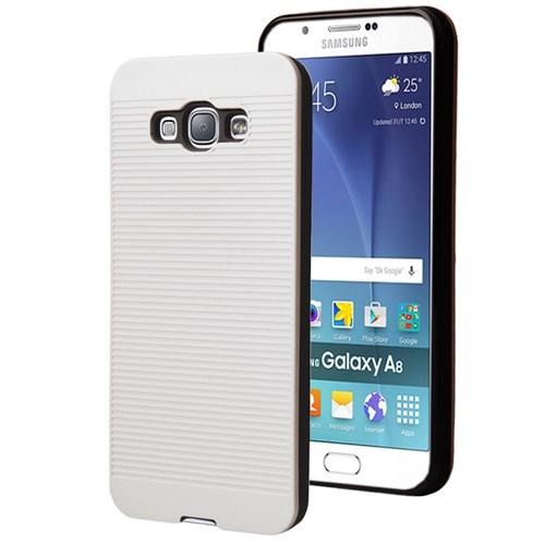 Microsonic Samsung Galaxy A8 Kılıf Linie Anti-Shock Beyaz