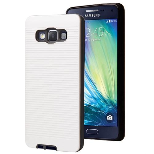 Microsonic Samsung Galaxy A7 Kılıf Linie Anti-Shock Beyaz