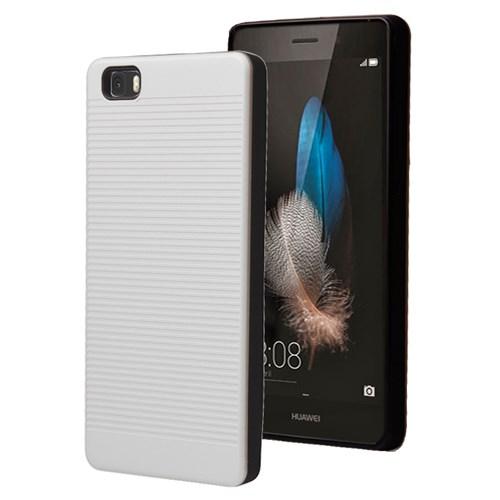 Microsonic Huawei Ascend P8 Lite Kılıf Linie Anti-Shock Beyaz