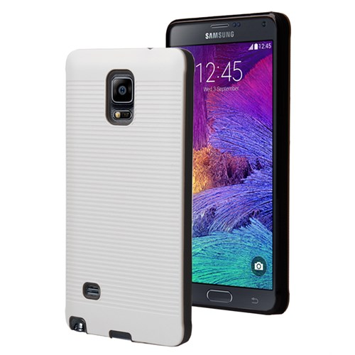 Microsonic Samsung Galaxy Note 4 Kılıf Linie Anti-Shock Beyaz