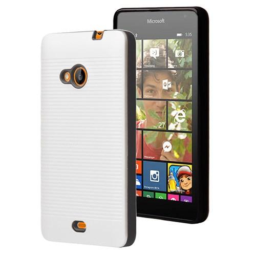 Microsonic Microsoft Lumia 535 Kılıf Linie Anti-Shock Beyaz