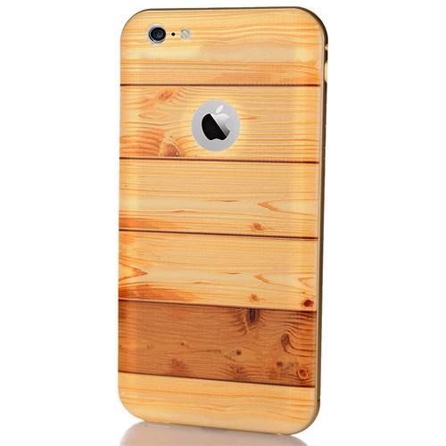 CoverZone İphone 6S Plus Kılıf Wooden Görünümlü