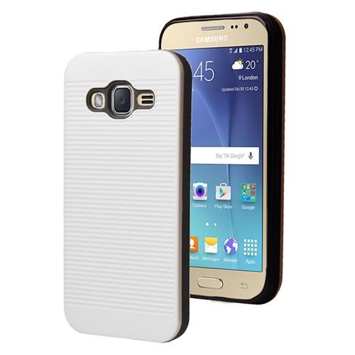 Microsonic Samsung Galaxy J2 Kılıf Linie Anti-Shock Beyaz