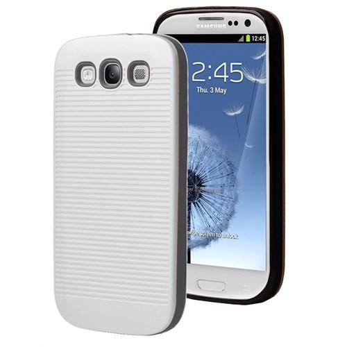 Microsonic Samsung Galaxy S3 Kılıf Linie Anti-Shock Beyaz