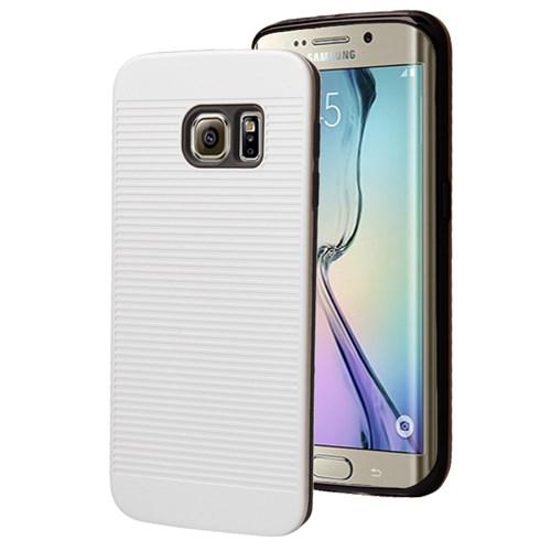 Microsonic Samsung Galaxy S6 Edge Kılıf Linie Anti-Shock Beyaz