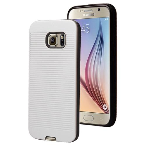 Microsonic Samsung Galaxy S6 Kılıf Linie Anti-Shock Beyaz