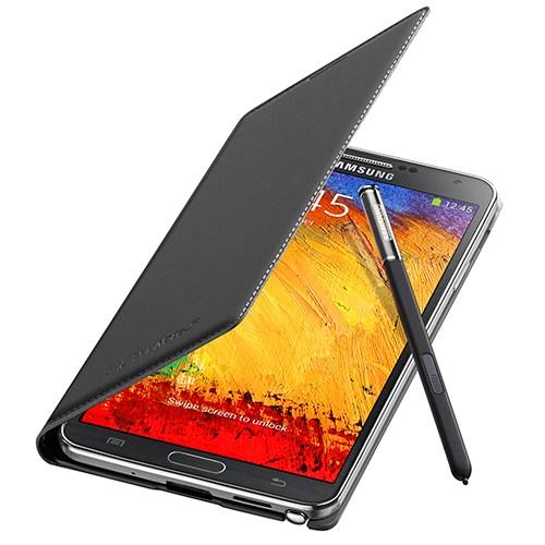 Samsung N9000 Galaxy Note 3 Flip Wallet Kılıf Siyah