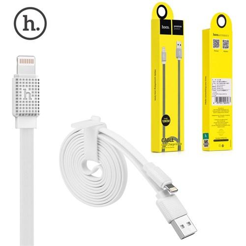 Hoco İphone 5/5S 6/6S Plus Şarj Kablosu Düz (Flat) Karışmayan Kablo