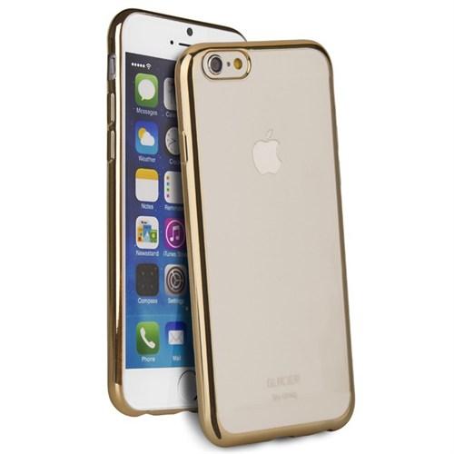 Uniq Apple iPhone 6/6S Glacier Glitz Şeffaf Silikon Kılıf Gold