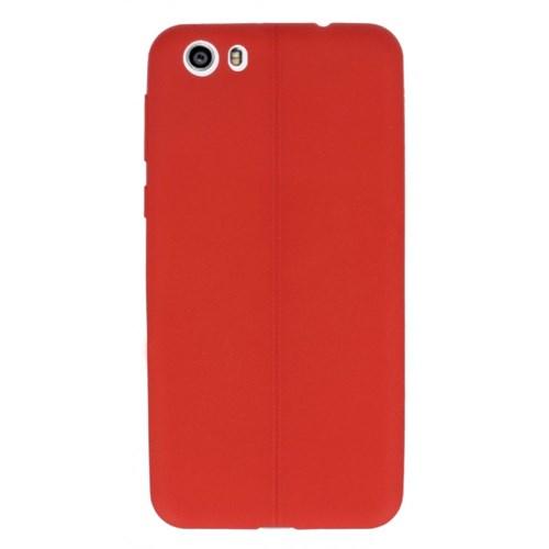 KılıfShop Vestel Venüs V3 5570 Dikiş Desenli Silikon Kılıf (Kırmızı)