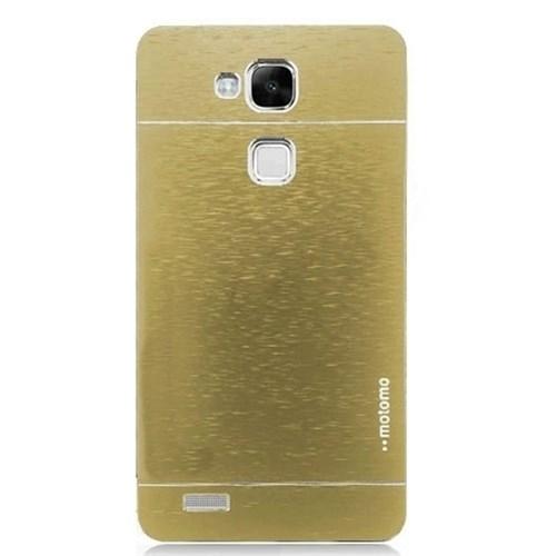 KılıfShop Huawei Ascend Mate 7 Motomo Metal Kılıf (Gold)