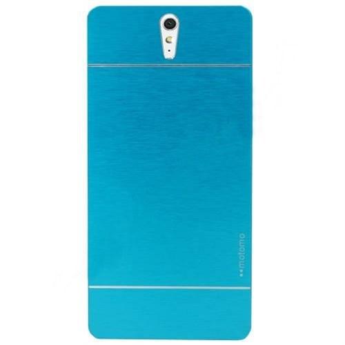 KılıfShop Sony Xperia C5 Ultra Motomo Metal Kılıf (Mavi)