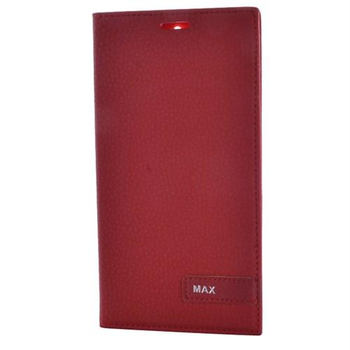 Cep Market Vodafone Smart 4 Max Kılıf Kapaklı Magnum Elit Kılıf - Kırmızı