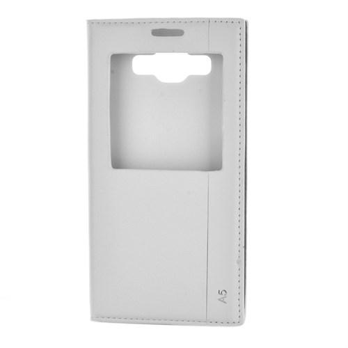 Cep Market Samsung Galaxy A5 Kılıf Pencereli Kapaklı Milano - Beyaz