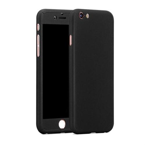 Cep Market Apple İphone 6/6S Kılıf 360 Derece Full Body Mika Kılıf - Siyah