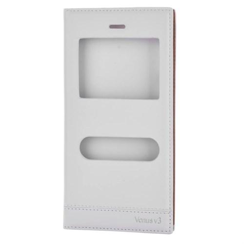 Cep Market Vestel V3 5040 Kılıf Pencereli Kapaklı Milano - Beyaz