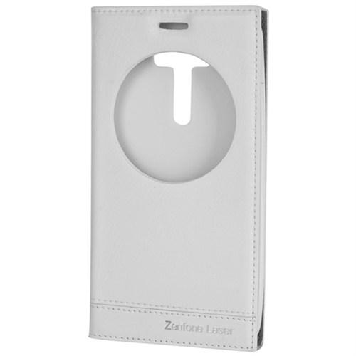 Cep Market Zenfone Laser Ze550kl Kılıf Pencereli Milano - Beyaz