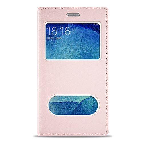 Fitcase Samsung Galaxy J7 Gizli Mıknatıslı Pencereli Kılıf Açık Pembe