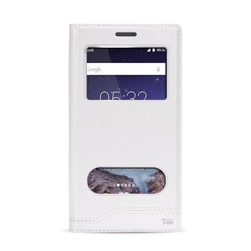 Fitcase Dolce Turkcell T60 Gizli Mıknatıslı Pencereli Kılıf Beyaz