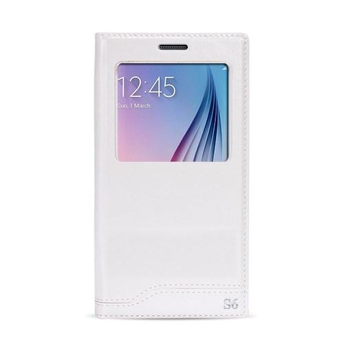 Fitcase Dolce S6 G920 Gizli Mıknatıslı Pencereli Kılıf Beyaz