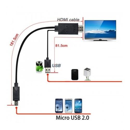 Cyber An-8822 Samsung S3-S4-S5 Note 2-3 Mhl Kablo