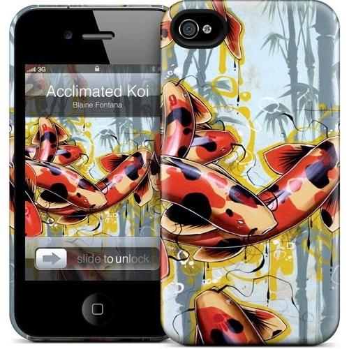 Gelaskins Apple iPhone 4 Hardcase Kılıf Acclimated Koi