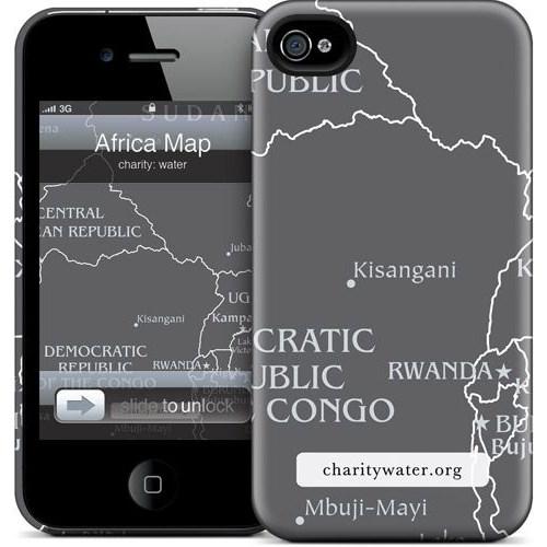 Gelaskins Apple iPhone 4 Hardcase Kılıf Africa Map