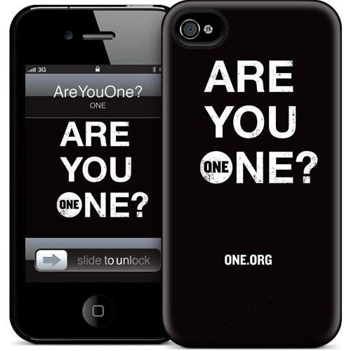 Gelaskins Apple iPhone 4 Hardcase Kılıf Areyouone? (Black)